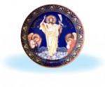 Иисус Христос на синем фоне