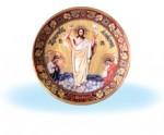 Иисус Христос на желтом фоне