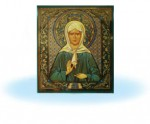 Икона св.Матрона на керамической плитке
