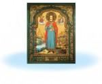 Икона св.Пантейлемон на керамической плитке